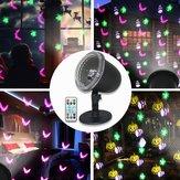 7.5 W 4 LED Projeção de Halloween Luz Do Estágio Ao Ar Livre Controle Remoto Lâmpada À Prova D 'Água para a Festa Festival AC100-240V