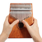 17 Keys Wood Kalimba Mahogany Thumb Piano Percussione Finger con accordatura Hammer