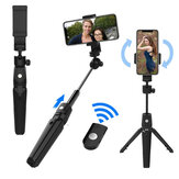 Bakeey K20 Selfie Stick Multifunctional bluetooth Remote Control Light Weight Tripod 360 Degree Rotating Expandable Phone Holder