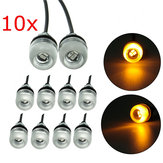 10pcs Motorcycle 5630 18mm 3Led Eagle Eye Lamp Daytime Running Lights Yellow