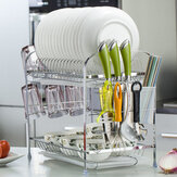 Double-layer Shelf Drained Shelf Tableware Shelf Dish Drying Rack Organizer
