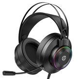 Fone de ouvido para jogos HP GH10 / GH10GS 50mm Unidade 360 ° Stereo Effect LED Colorful Microfone leve flexível para PS3/4 PC