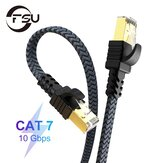 FSU Ethernet Cable Cat 7 Flat High Speed Nylon LAN Network Patch Cable RJ45 Network Cable