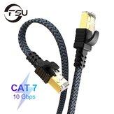 FSU إيثرنت كبل Cat 7 Flat High Speed Nylon LAN Network Patch Cable RJ45 كبل الشبكة