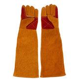 1ペアの牛革安全保護手袋溶接Wellder作業修理耐摩耗性