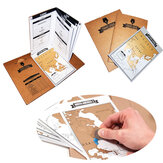 Adventure Log 8Pcs Mini Maps 1Pcs Daily Expeditionary Creative Scratch World Map Note Schedule Gift
