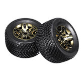 2PCS Electroplating Tires for JLB Racing CHEETAH J3 1/10 RC Car Spare Parts EC1004