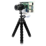 Caturda C2702 Tranparent Protective Case + Bracket Support HoldingIMX477R Camera Module for Raspberry Pi