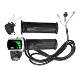 24V / 36V / 48V LCD Twist Throttle Batterie Indicateur Puissance ON OFF pour Scooter Vélo électrique