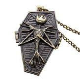 DEFFRUN Nightmare Before Christmas Quartz Pocket Watch Retro Collana pendente antico Regalo per bambini