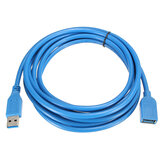 3M/10ft High Speed USB 3.0 Male to USB 3.0 Female Flat Extension Data Charge Cable