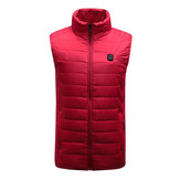 Rood Unisex USB Verwarmingsvest Smart Winter Body Warmer Outdoor Racing Jacket Heater Xmas Gift