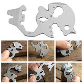VOLKEN 7-in-1 Pocket Multi-tool Multifunction Military Card Shape EDC Tools Screwdriver For Outdoor Survival Camping