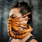 Halloween Costume Scorpion Mask Face Hugger Mask Alien Covenant Claws Insect Xenomorph Hugger Face Worm Latex Mask