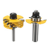 2pcs 1/2 And 1/4 Inch Shank Adjustable Rabbet Router Bit Set For Woodworking