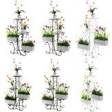 Support de fleur multicouche au sol étagère de pot de fleur en plastique simple plancher de balcon suspendu support d'orchidée