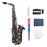 MY S0205 Matte Black Nickel Plated Alto E Flat Saxophone Body Carved White Shell Buckle