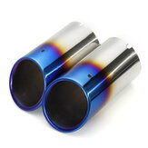 Stainless Steel Car Exhaust Muffler Tail Pipe Tip Pair For Audi Q5 A1 A3 A5 A4 B8