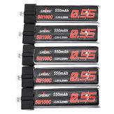 5Pcs URUAV 3.8V 550Mah 50/100C 1S HV 4.35V Lipo Battery PH2.0 Plug for Emax Tinyhawk Kingkong/LDARC TINY