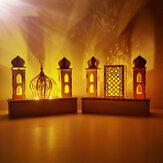 DIY LED Light Ξύλινο Eid Μουμπάρακ Πλάκα Ραμαζάνι στολίδι στο σπίτι