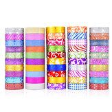 50PCS Brillare Washi Tape Stationery Scrapbooking Nastri adesivi decorativi Nastro adesivo colorato fai da te Materiale scolastico