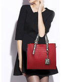 Women Fashion Stone Crocodile Pattern Ladies Bag Handbag