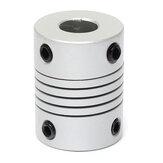 Conector de engate od19mm x l25mm cnc motor de passo acoplamento do eixo flexível 8 milímetros x 10mm de alumínio