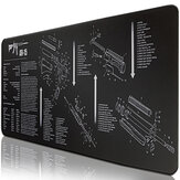ZOUYA AR-15 Mouse Pad Large Size Rubber Gaming Keyboard Pad Desktop Table Protective Mat for Home Office