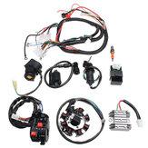 Arnés de cableado eléctrico Alambre Loom CDI motor Conjunto completo de estátor para ATV QUAD 150/200 / 250CC
