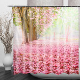 FlordeCerejeira3DModaPadrão Banheiro Tecido de Cortina de Chuveiro Decoração de Casa À Prova D 'Água