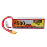 ZOP Power 7.4V 4500mAh 75C 2S Lipo Батарея XT60 Разъем для RC Дрон Авто