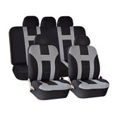 Universele Car Seat Covers Front Back Protectors 9 Stuk Set Washable Grey & Black