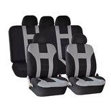 Universal Autositzbezüge vorne hinten Protektoren 9 Stück Set Waschbar grau & schwarz