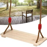 Outdoor Wooden Swing Seat Hanging Chair Porch Swing Camping Garden Patio