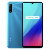 Realme C3 Global Version 6.5 inch 5000 mAh Android 10 12 MP AI Drievoudige camera 3-kaartsleuf 3 GB 64GB Helio G70 4G Smartphone