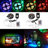 DC12V 5M Non-waterproof 3528SMD RGB LED Strip Lights US EU Power Adapter + 24 Keys Remote Control