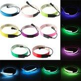 Cinta electroluminiscente colorido el alambre de 8 colores 12v dc inversor 60cm * 14mm