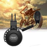 TWOOC Zmodernizowany USB Elektroniczny Rower Dzwonek Wodoodporny 50-100dB Regulowany 4 Tryby Niski Poziom Hałasu Rower Alarm Akcesoria Rowerowe