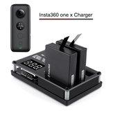 Rcharlance 3 em 1 3x5.22 w 3x1.2a micro usb carregador rápido Bateria carregamento com 12 v 3A adaptador para Insta360 uma câmera x