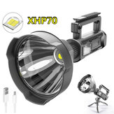 XANES XHP70 1500m سطوع LED Floodlight مع ترايبود 8000mAh USB هاتف القوة Bank Rechareable Poweful Searchlight مصباح يدوي