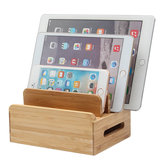 Bamboo Multi-device هاتف Holder شحن Dock Stand Holder Tablet Stand for Smartphone Tablet