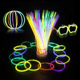 100штМногоцветныйRitiumGlowSticksТемный участник огни Браслеты Glow Sticks Свадебное Украшение Мигает светодиодные игрушки Светлые па