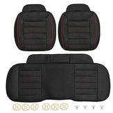 3 pcs PU de Couro Do Carro Dianteiro Traseiro Cobre Assento Universal Assento Protetor Almofada Do Assento Pad Mat