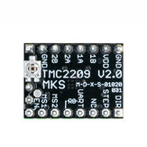 MKS TMC2209 V2.0 3D Printer StepStick Stepper Motor Driver 2.5A UART Ultra-quiet High-current Unlimited Return to Zero For SGen_L Gen_L Robin Nano
