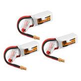3Piezas ZOP Power 11.1V 450mAh 35C 3S Lipo Batería XT30 Enchufe