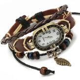 Deffrun Reloj de pulsera de estilo retro de diseño único para mujer
