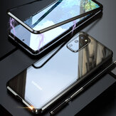 Bakeey2in1MagnetAdsorption Flip gehärtetes Glas + Linsenschutz Metall Vollabdeckung Schutzhülle für Samsung Galaxy S20 + / Galaxy S20 Plus 5G 2020