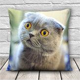 3D милые выражения кошки бросить наволочки диван офис Авто чехол для подушки подарок
