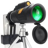 Télescope monoculaire puissant Moge 12x50 20mm Film FMC oculaire HD Vision nocturne professionnelle avec support pour téléphone trépied