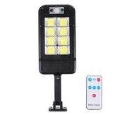 1200W LED Солнечная Настенный светильник Движение Датчик Включите Дистанционное Управление Сад Лампа Водонепроницаемы Wall Street Light